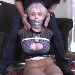 Rope bondage - Nadia White GNDB1039 – Refusing to shut my mouth got me mouth stuff and gagged!