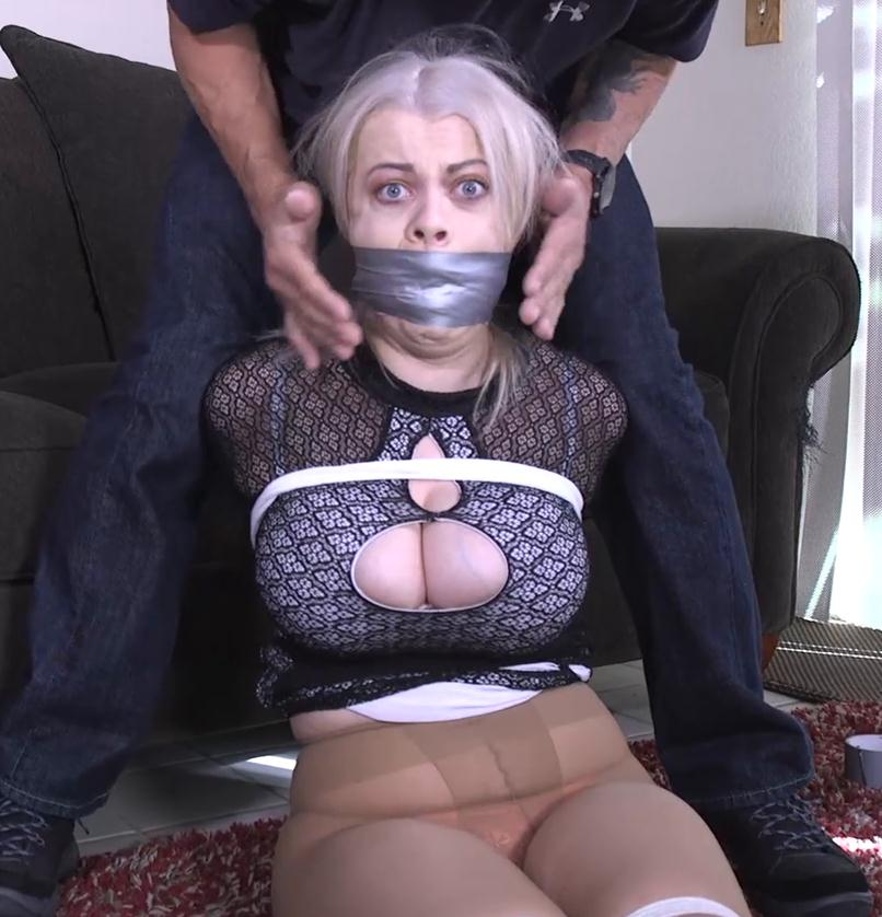 Rope bondage - Nadia White GNDB1039 – Refusing to shut my mouth got me mouth stuff and gagged!