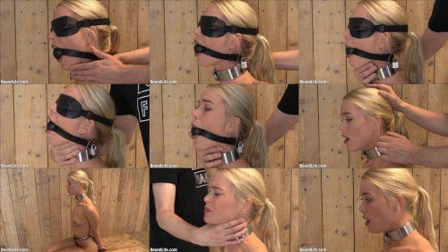 Boundlife  - Obeying Sir - Breath play - Girl is locked a ballgag,cuffed,and blindfolded - Metal bondage