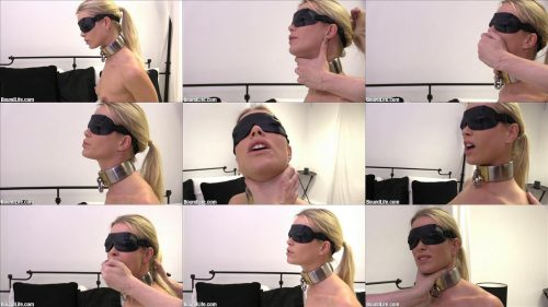 Boundlife - Neck play and hair pulling - SwedishCollar and  a blindfold are good things for start bondage plays - Cuffs bondage