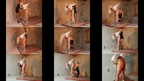 Extreme bondage - Milf Sandra Silvers spanked by Lisa Harlotte! - Testing must be done thoroughly - Strict Bondage