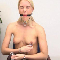 Metal bondage - Boundlife - Heavy pinchy nipple clamps!