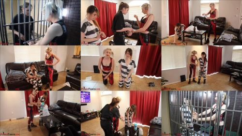 Prisonteens - Harley Quinn and henchwoman Ziva are cleaning - Prison bondage - Handcuffs bondage