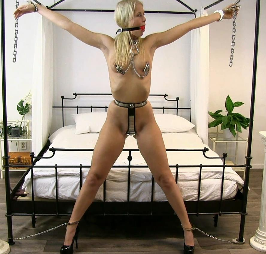 Metal self bondage - BoundLife - Cute girl is completely helpless - Predicament
