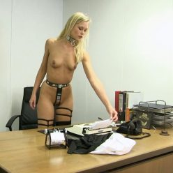 BoundLife - Secretary in a chastity belt - Working naked is much more exciting - Bondage play