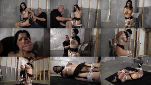 Gndbondage Hannah Perez – Wife gets her panties pulled off and packed in her mouth - Bondage tightly -Hannah in a very tight and strict hogtie