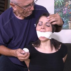 Hannah is bound, gagged and struggling helpless on a sofa gndbondage – I'll do whatever it takes to get my step-son a good grade!