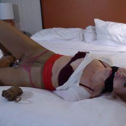 Rope bondage - Jolene Hexx is hogtied and gagged – Snooping girl hogtied and stashed away GNDB0478 - Jolene struggles hard - Extreme bondage
