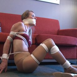 Rope bondage - Madalynn is bound and the ropes are tied painfully tight gndbondage – He made me strip down to my bra, panties and pantyhose!