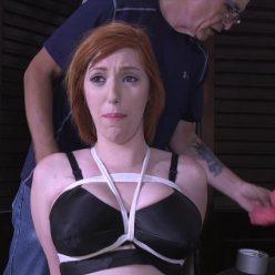 Rope bondage - Lauren Phillips is hogtied - Gndbondage – I have your big busted wife tied up!