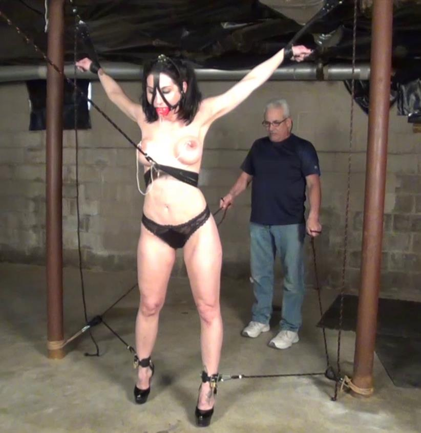 This diabolical rope bondage predicament - Raven Eve - In the Flying Rubens Position - Raven is stretched out the fun is just beginning