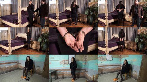 Handcuffs bondage - Vida Bristol is arrested before her meeting - Part 1 of 4 - Metal bondage