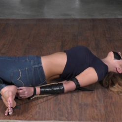 Tight bondage - Lucy Purr is still going to try to get away - The Race part 3 of 4 - Rope bondage - She is tied completely inescapably