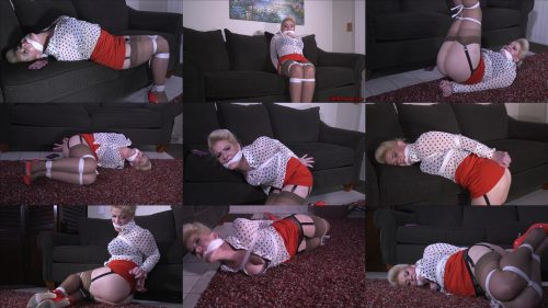 Rope bondage - Whitney Morgan gndbondage – Nosy house wife all is tied up and gagged -She struggles bound and gagged