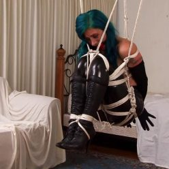 Rope bondage - Megan Salinas is stripped naked, cleavegagged and tied - Diva In Distress - Bondage Fantasies – The Complete Video