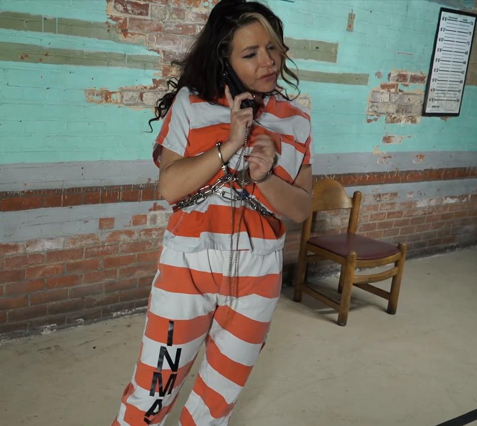 Metal bondage - Gotcuffs - JJ Plush is arrested and cuffed - Part 3 of 6 - Handcuffs bondage