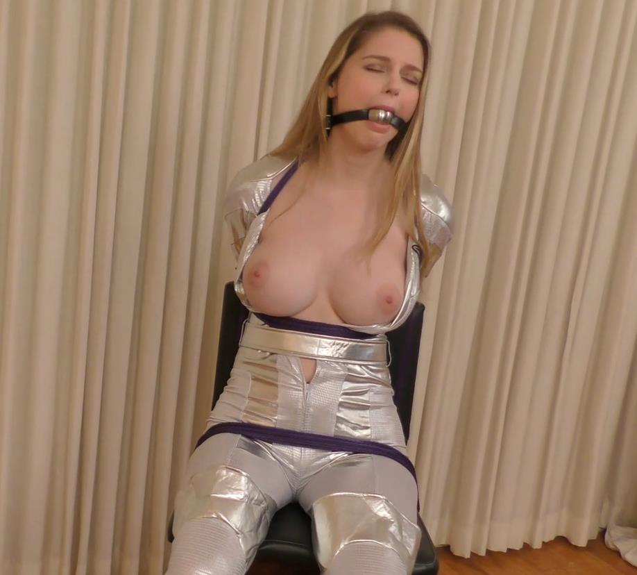 Tape bondage - Bunnyrella – Space Adventuress – Bunny Colby - Bondage Fantasy