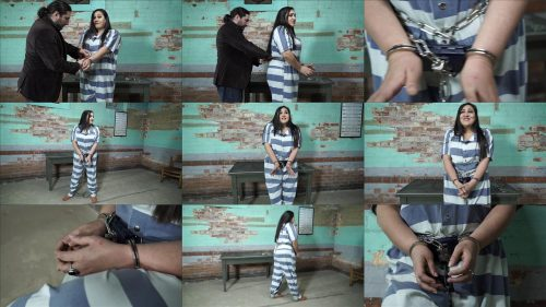 Handcuffs bondage - Vida Bristol is arrested before her meeting - Part 3 of 4 - Metal bondage
