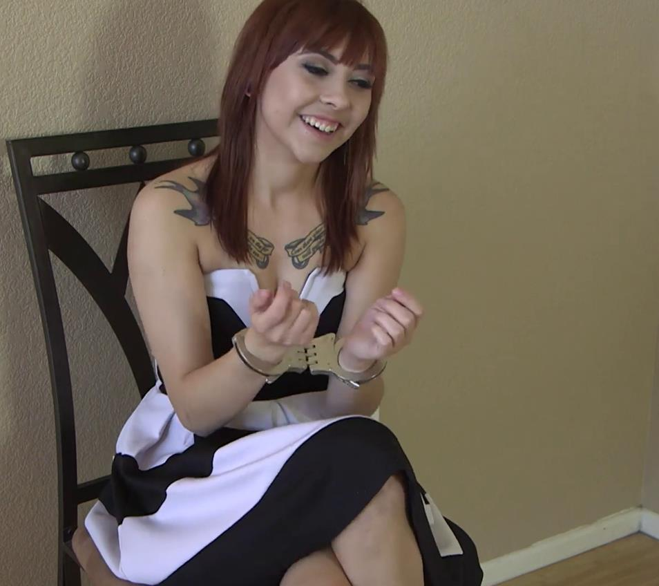 Handcuffs bondage - Cuffed Veronika shares her experiences of being arrested - Interview