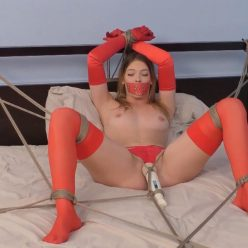 Captivating Fantasies – Part Five – Leah Lee is bound to the bed with ropes - Bed Bound - Bondage Orgasm