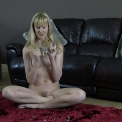 Steel bondage - Ariel Anderssen putting handcuffs and fees very restrained - A Whole Lot of Handcuffs - Self bondage - The cuffs are very heavy