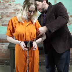 Handcuffs bondage - Lexi Warrior is bound tightly - First arrest part 4 of 5
