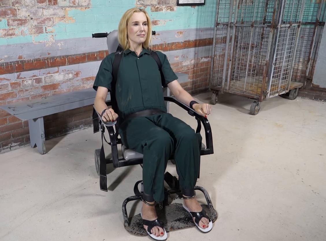 Handcuffs bondage - Ariel Anderssen is arrested at work part 4 - Prison bondage