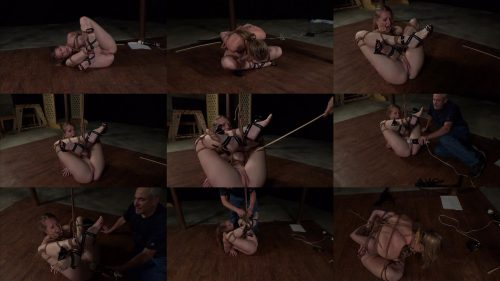 Really cums hard!  - Forced orgasm - Ashley Balled as in Balltied and Vibed - Cums in bondage