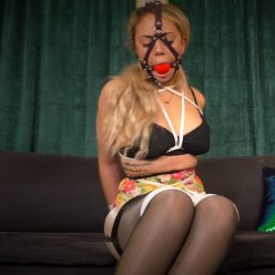 Sensually rope bondage - Nika Venom is bound in rope wearing a harness ballgag - Bondagette struggles in nylons and a girdle - Nyxonsbondagefiles