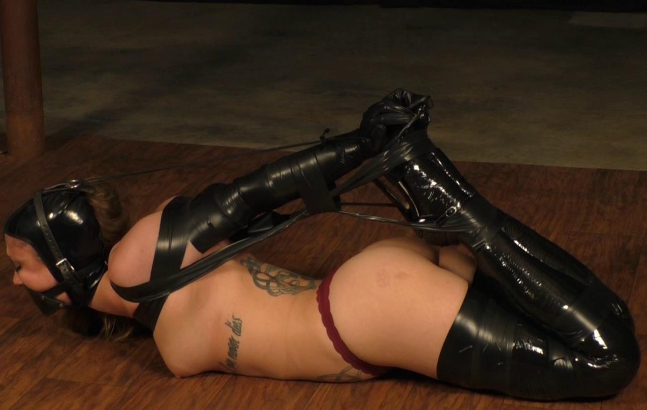 Extreme bondage - Isean is bound tigtly - Fetish with tight tape bondage - Enjoy tape bondage