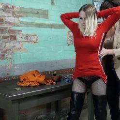 Handcuffs bondage - Lexi Warrior is bound tightly - First arrest part 3 of 5