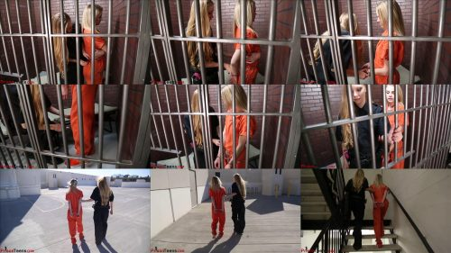 Prison bondage - Babe in chains! - Officer Lisa transports Natalie in chains - Metal restraints for metal bondage