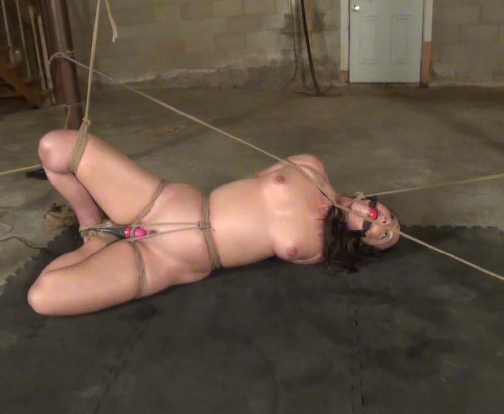 Rope bondage - Wenona sang a beautiful orgasm song - The power of the palm power massager - Part 2 of 2 - Forced bondage orgasm - Helpless bondage position