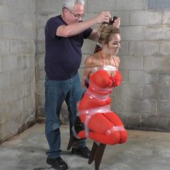 Tape bondage - Lucy Taped To The Tippy Chair - Lewrubens Bondage - It's tight - Extreme bondage