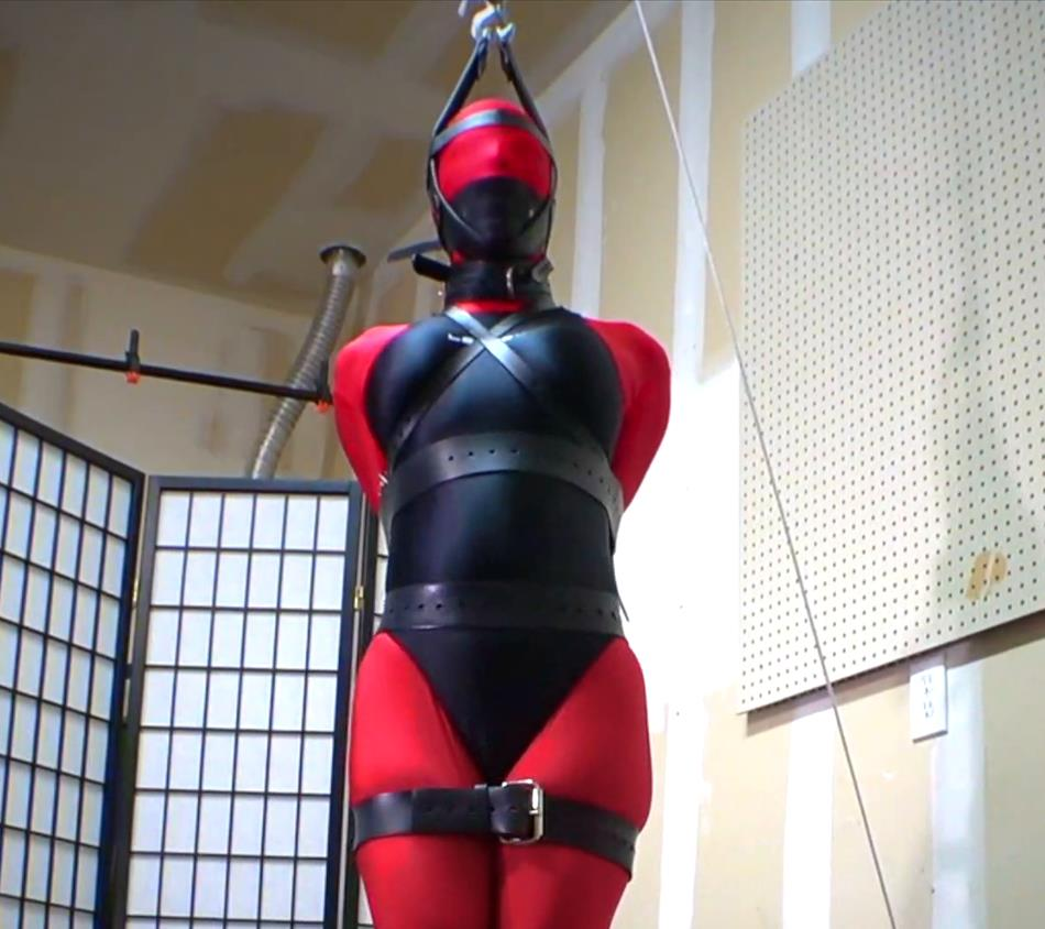 Completely helpless and immobilized Sarah Brooke - Living doll strapped and stretched - Predicament Bondage