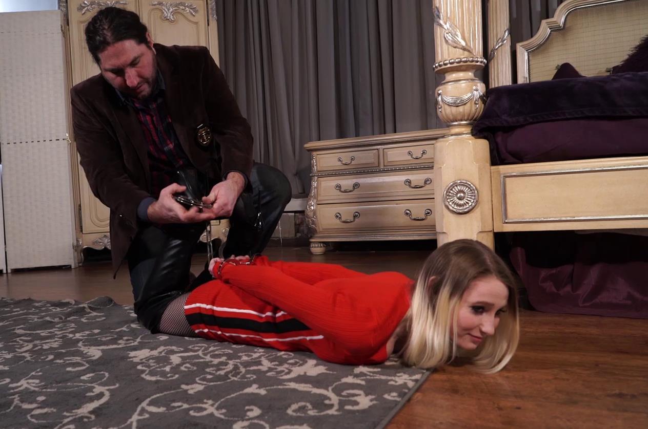 Handcuffs bondage - Lexi Warrior is bound tightly - First arrest part 1 of 5