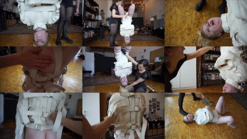 Sensual  Bondage - Alani Pi in inverted straitjacket suspension - Needless enjoyed bondage playing with Alani