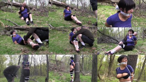 Dixie Comet – Hiker is grabbed and tied up in the woods with rope - Outdoor bondage