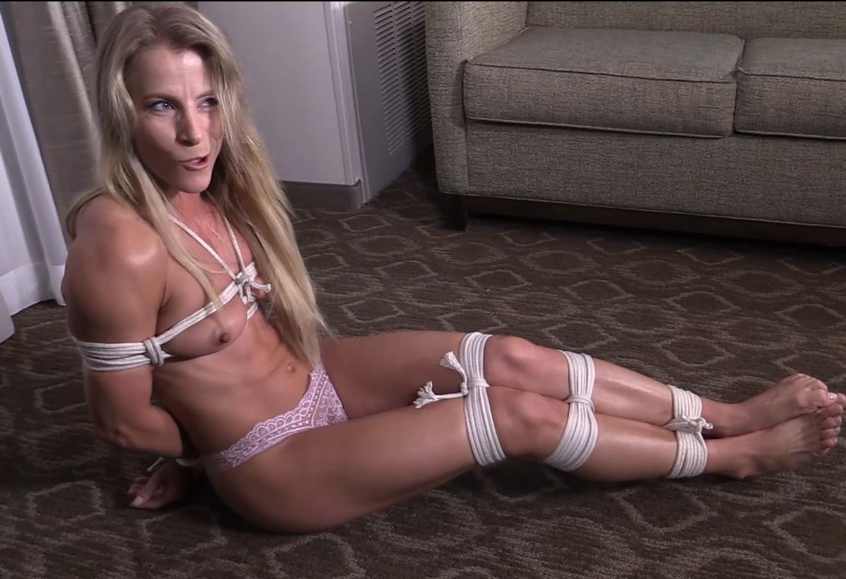 Clair Irons is tied her up with rope gndbondage – All tied up! Roll me over and pull my panties down! GNDB0469 - She obviously wanted to be gagged
