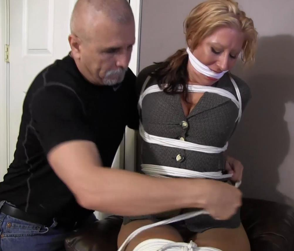 Crystal Frost is tied and gagged - Rope bondage – I am going to want you to do naughty things to me! GNDB0501 - Crystal loves being tied up