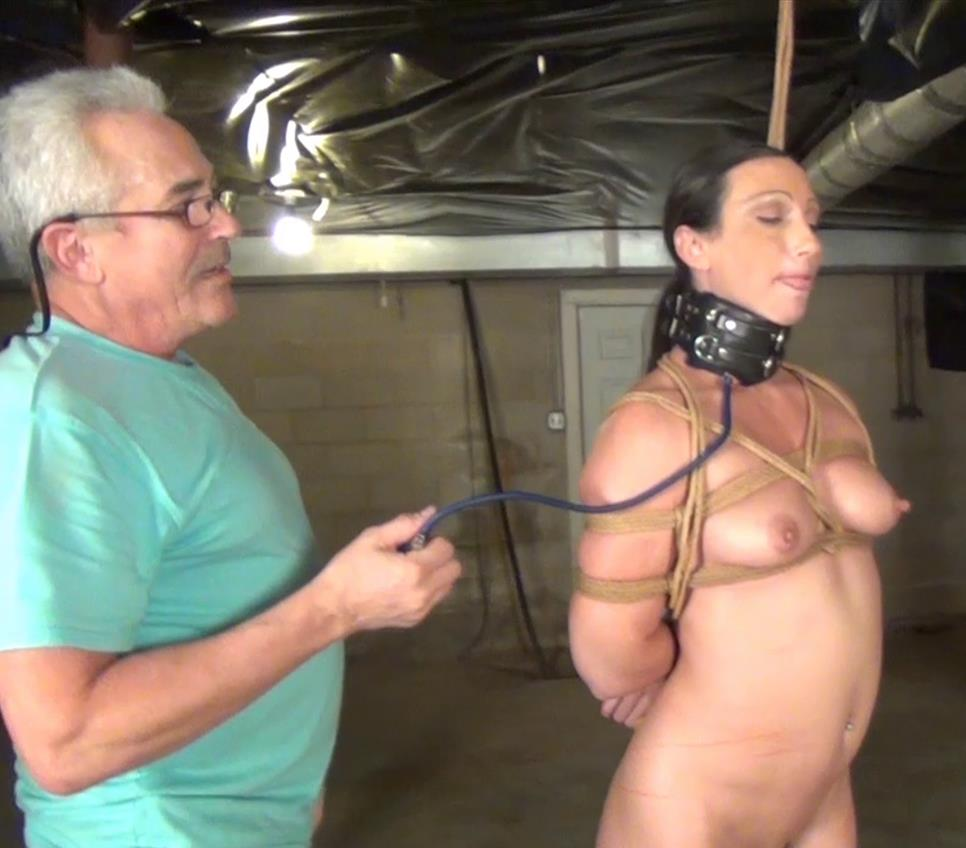 Rope Bondage - Naked Wenona is testing posture collar - The New Sleeper Collar