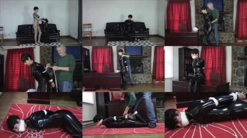 Johannie  has a couple more hours of being bound - Rope Bondage – Caught in The Act - Johannie  struggle and scream through her gag