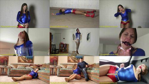 Mummification UltraGirl - Rachel Adams Meets Dr. DNA! - Drooling - Rachel is hogtied  tightly to a pole
