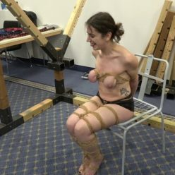 Xtremely-tight boob bondage - Little Red Girl is tied up in public by Sasori part 1 of 2 - Rope Bondage