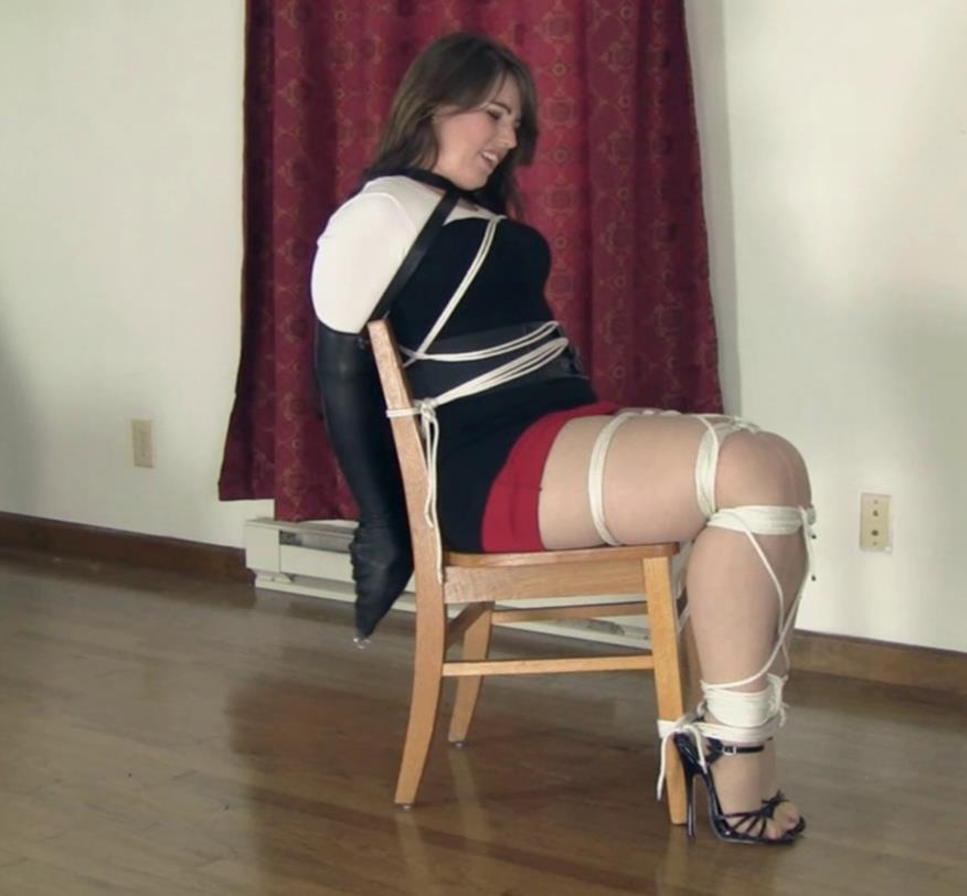 Rope Bondage - Elizabeth Andrews is roped to chair - Audition Gone Awry Part 2 of 2