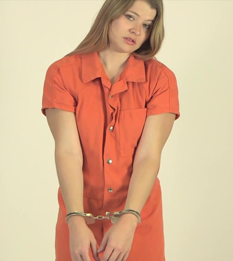 Katsya cuffed! - Katsya is Searched and Suited, Arrested and Handcuffed - Prison Bondage
