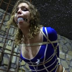 Female bondage - Diamondly is tied up in the dungeon by her stalker JJ Plush - Rope Bondage