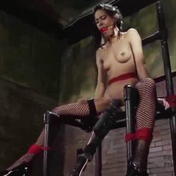 Rope Bondage - Perfect Slave – High and Tight – Page - Page thrashes wildly we press the wand up against her tight little pussy