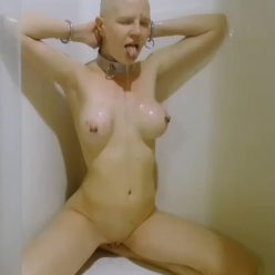 Beautifully Naked Rachel Greyhound Head Shave - Shave time for Greyhound!