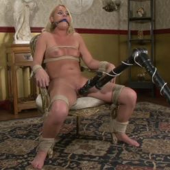 Rope Bondage - Sexy blonde with a sweet and a twisted mind is bound - PerfectSlave – Another Newbie Broken In – Vanessa Reed